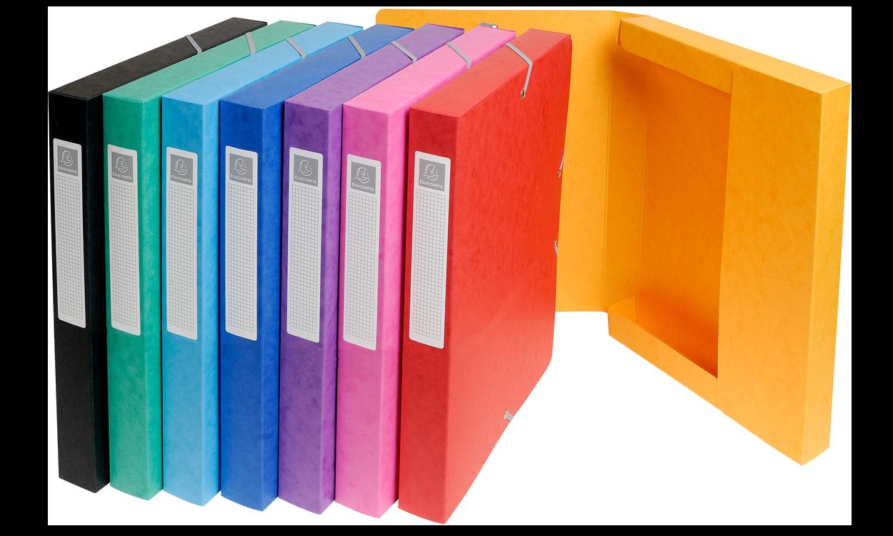 boîtes de classement en carte lustrée